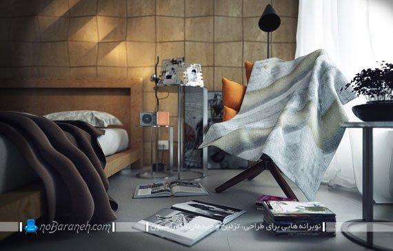 مدل دیوارپوش مدرن اتاق خواب