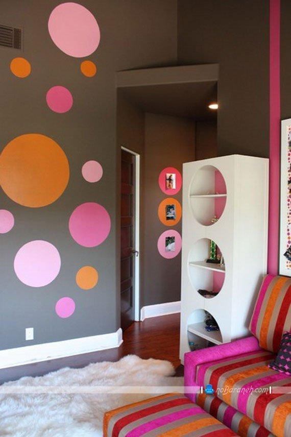 ترکیب صورتی با دیگر رنگها در اتاق خواب