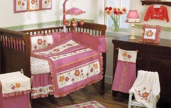 چیدمان اتاق کودک نوزاد دختر / عکس
