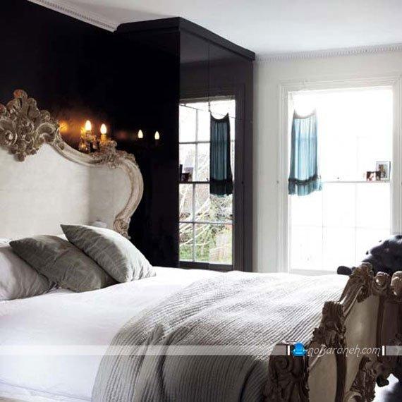 سرویس خواب سفید رنگ اتاق عروس با طرح و مدل سلطنتی