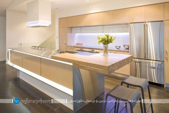 مدل های متنوع نورپردازی کابینت آشپزخانه