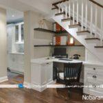 ایده های خلاقانه برای مدیریت فضای خالی زیر راه پله خانه