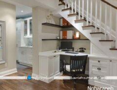 تبدیل زیر پله خانه به اتاق و دفتر کار کوچک