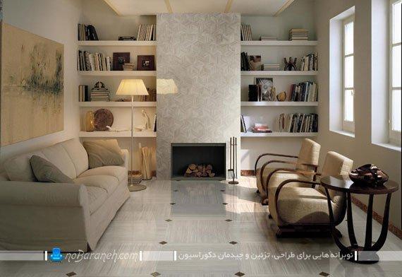 سرامیک مدرن اتاق پذیرایی / عکس