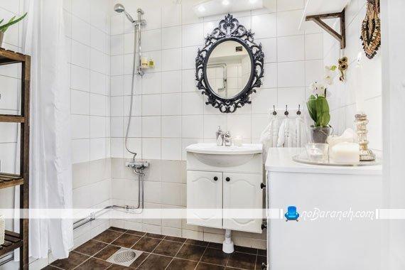 دیزاین سرویس بهداشتی با رنگ سفید
