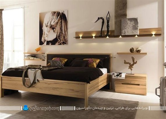 مدل سرویس خواب مدرن چوبی / عکس