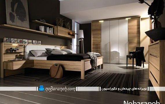 سرویس خواب چوبی مدرن با تجهیزات کامل
