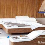 تخت خواب های دو نفره اتاق عروس با طرحهای مدرن و پارچه ای