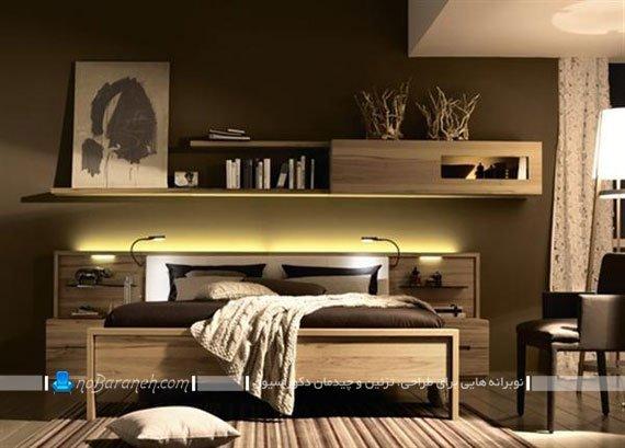 مدل سرویس خواب چوبی مدرن / عکس