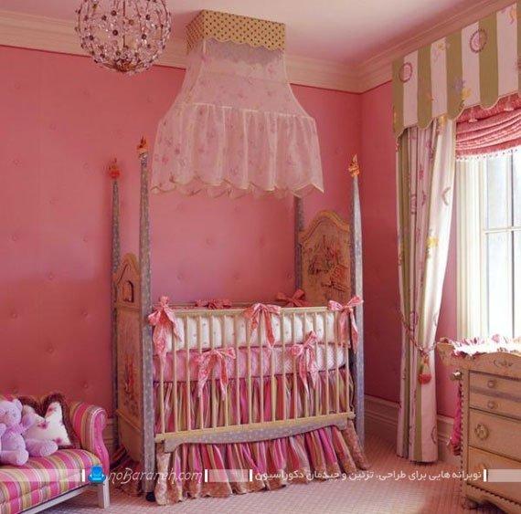 تخت خواب سلطنتی نوزاد / عکس