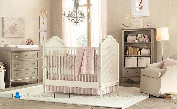 تزیین شیک اتاق نوزاد دخترانه