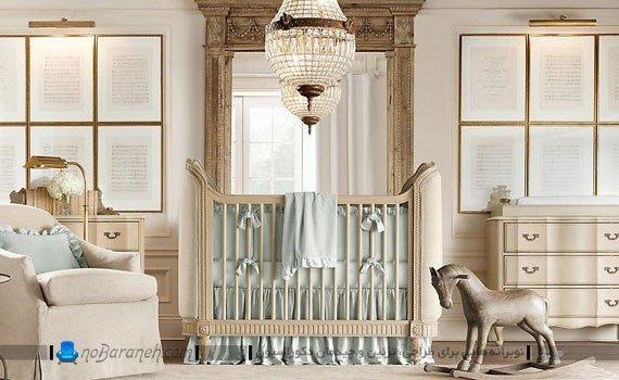 سیسمونی شیک و زیبا در اتاق نوزاد