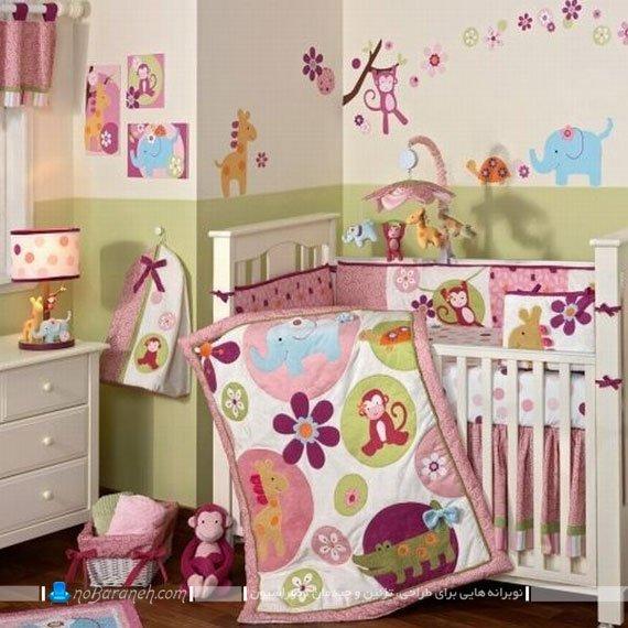 تزیین دیوار اتاق نوزاد دختر / عکس