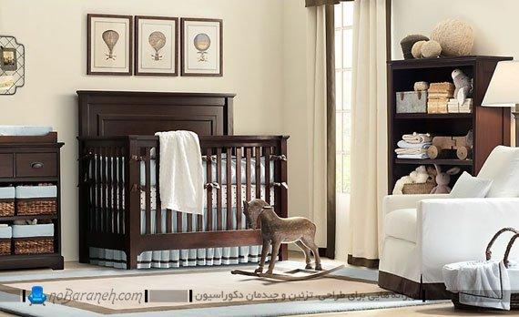 دکوراسیون شیک و زیبا در اتاق نوزاد