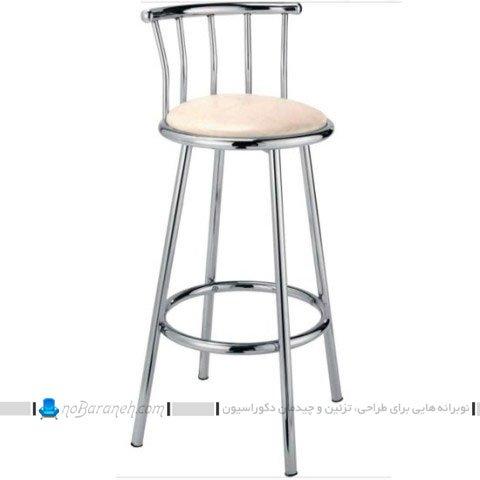 صندلی اپن پشتی دار فلزی و ارزان / عکس