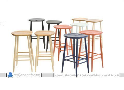 صندلی اپن چوبی طرح چهار پایه / عکس