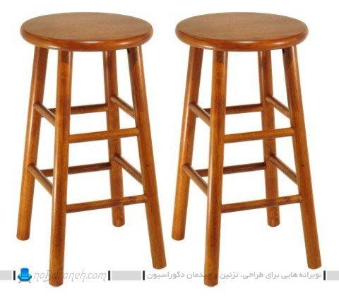 صندلی اپن چوبی و ساده / عکس