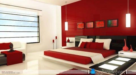 رنگ آمیزی اتاق عروس با قرمز