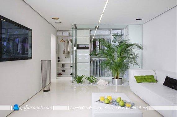 طراحی دکوراسیون مینیمالیستی و شیک خانه کوچک 80 متری