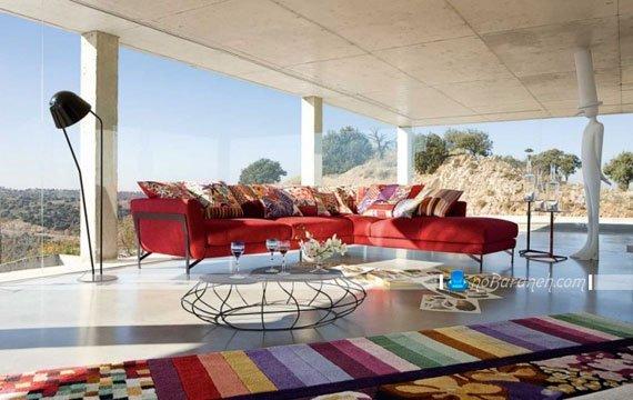 طرح جدید فرش اتاق پذیرایی / عکس