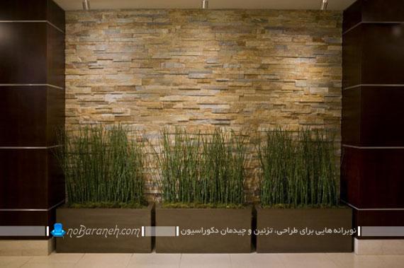 گلدان های چوبی شیک و تزیینی برای دکوراسیون داخلی منزل