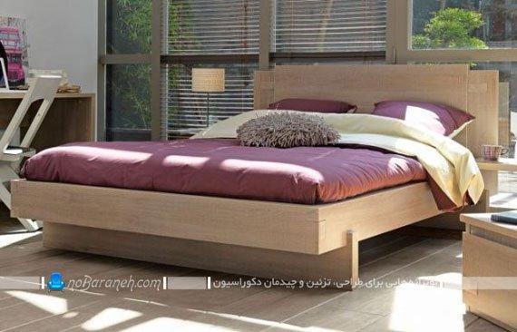 تخت خواب چوبی دو نفره