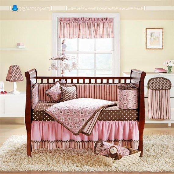 سرویس خواب دخترانه اتاق نوزاد / عکس
