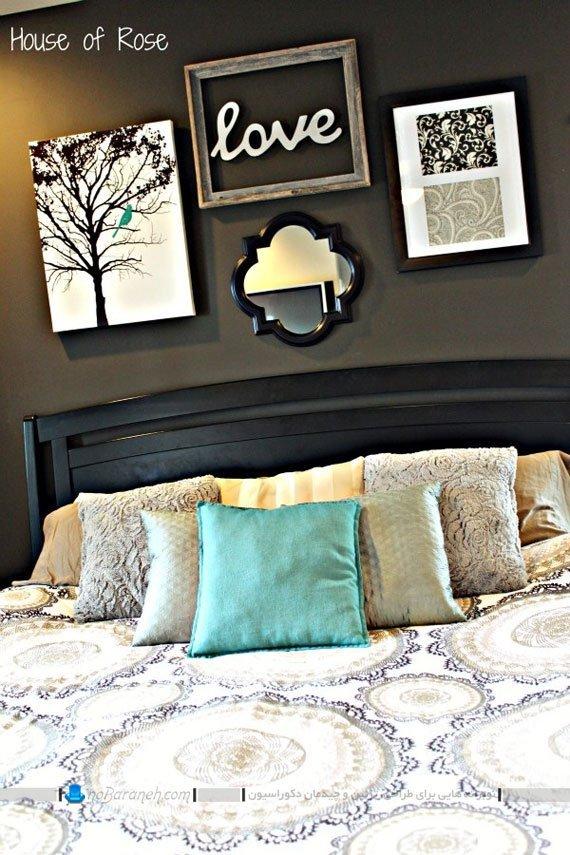 تزیین اتاق خواب با سفید و مشکی