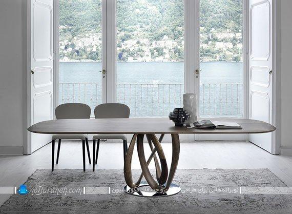 میز ناهارخوری چوبی شیک و ظریف / عکس