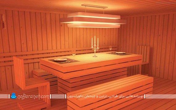 میز ناهارخوری فانتزی چوبی