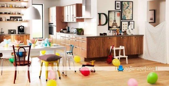 مدل کابینت چوبی آشپزخانه