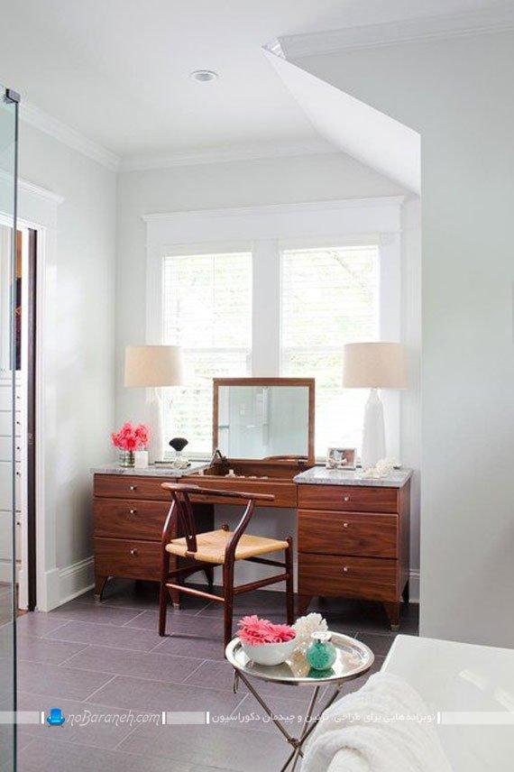 میز آرایش چوبی کلاسیک