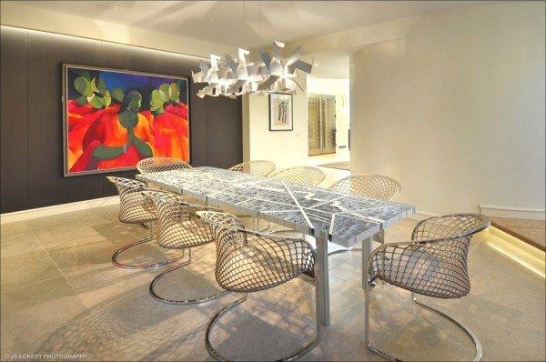 میز و صندلی ناهارخوری فلزی