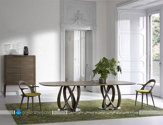 میز ناهارخوری چوبی / عکس