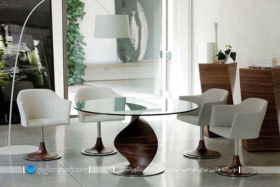 میز ناهارخوری گرد و مدرن