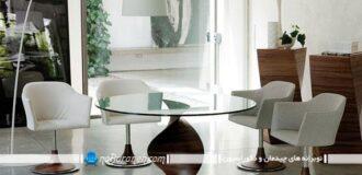 میز نهارخوری چهار نفره با طراحی مدرن / عکس