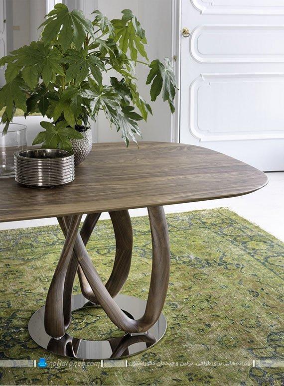 میز نهارخوری ظریف چوبی / عکس
