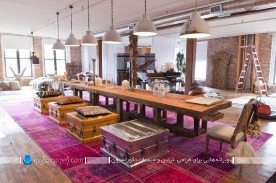 میز و صندلی ناهارخوری بزرگ / عکس