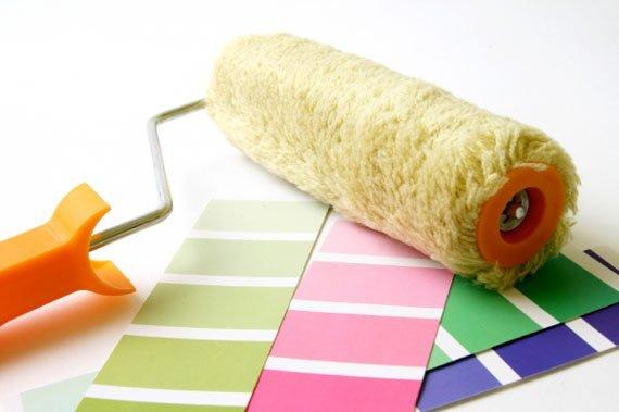 آموزش نقاشی و رنگ کردن یا رنگ زدن دیوار خانه با غلطک
