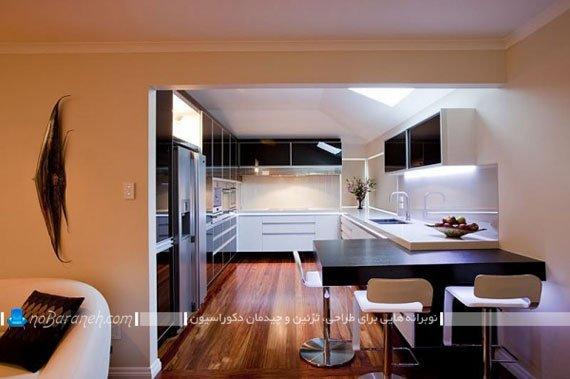 مدل های ساده نورپردازی کابینت های آشپزخانه اپن