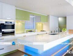 نورپردازی کابینت و فضای آشپزخانه با نور مخفی