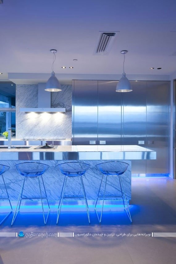 نورپردازی اپن آشپزخانه / عکس