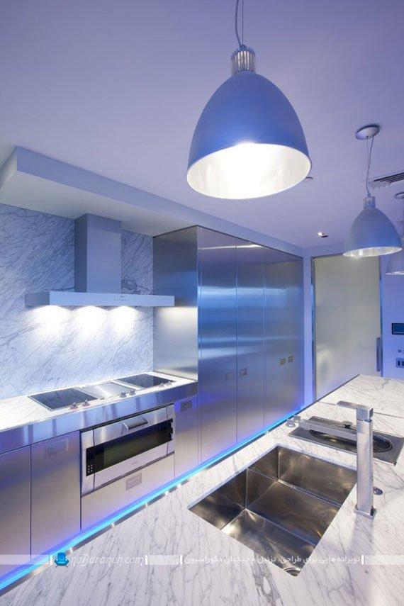 نورپردازی در کف آشپزخانه ها و محل تلاقی کابینت ها با زمین