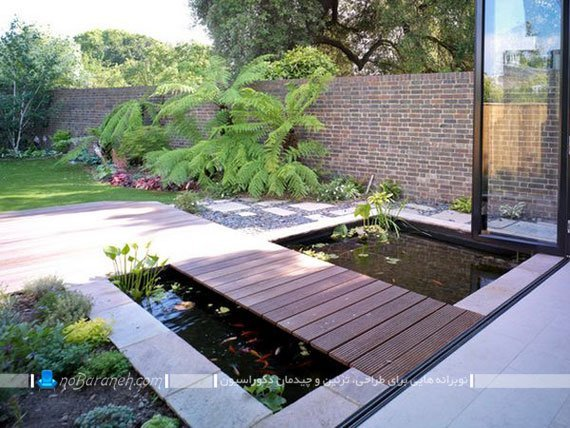 طراحی حوضچه های زیبا در دکوراسیون خارجی و حیاط خانه