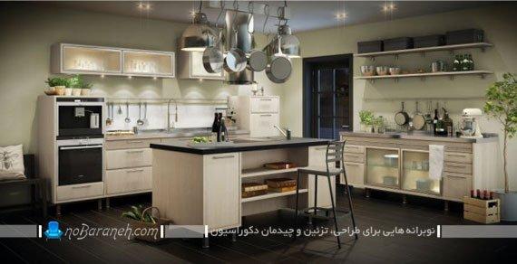 طراحی دکوراسیون جزیره ای در آشپزخانه