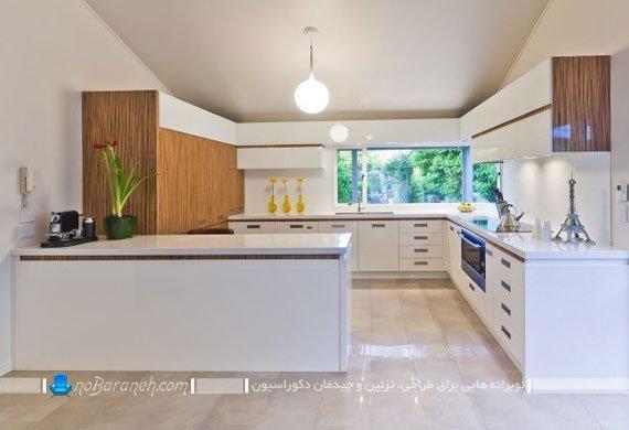 نورپردازی ساده کابینت آشپزخانه