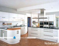 مدل آشپزخانه جزیره ای با کابینت های مدرن
