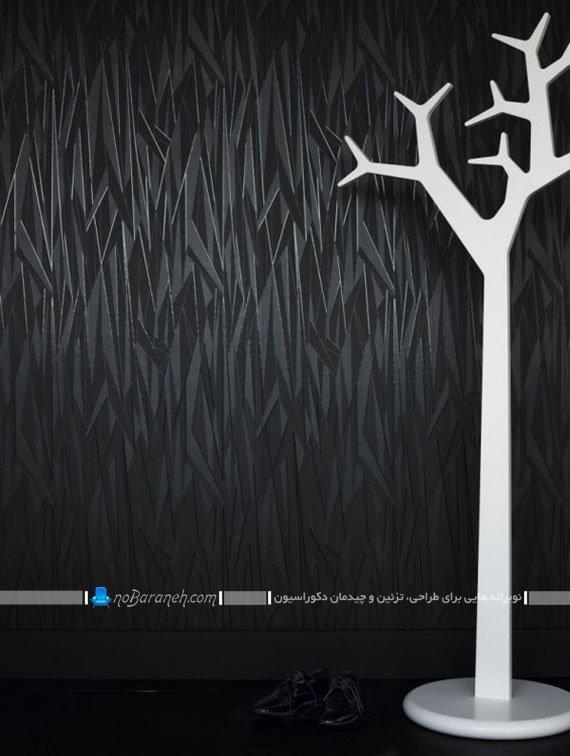 کاغذ دیواری طرحدار سیاه رنگ