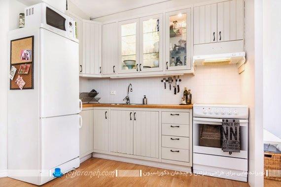 چیدمان آشپزخانه کوچک و نقلی