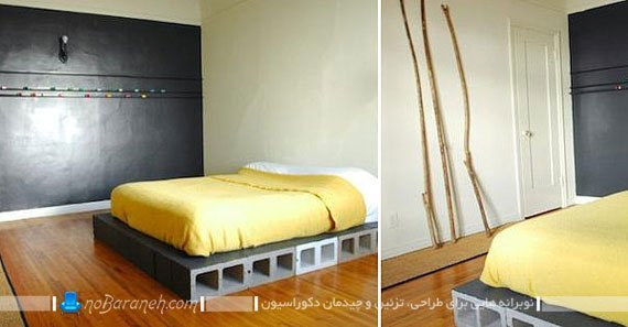ساخت تخت خواب دو نفره / عکس